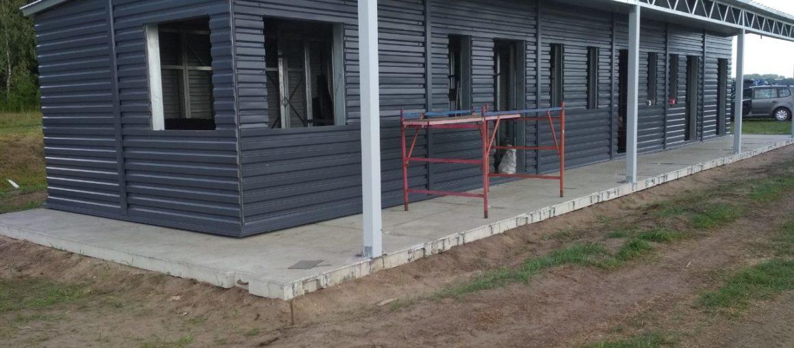 Новое быстровозводимое здание с навесом готово!