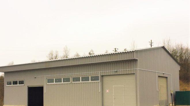 Строительство склада с односкатным навесом
