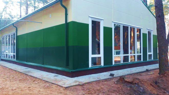 Реконструкция каркасного здания закрытой террасы пищеблока